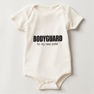 bodygaurd for my new sister baby creeper