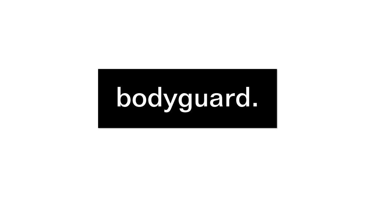 bodyguard business card zazzle