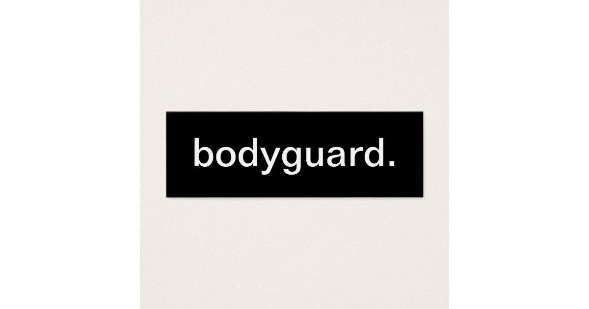 Bodyguard Business Card | Zazzle.com