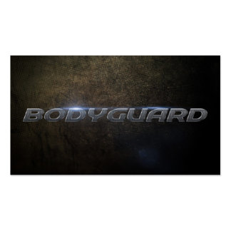 Bodyguard business cards templates zazzle for Bodyguard business cards