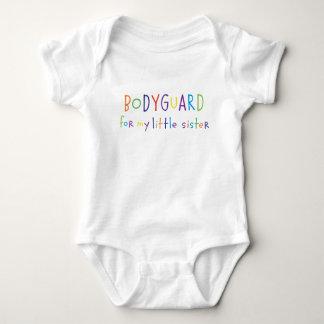 Bodyguard for my little sister baby bodysuit