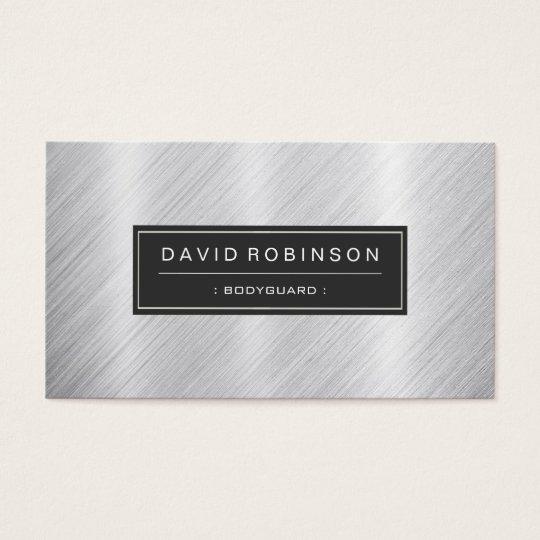 Bodyguard Modern Brushed Metal Look Business Card