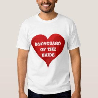 Bodyguard of The Bride Funny Heart Wedding Bridal T Shirt