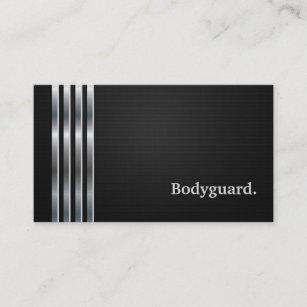 Bodyguard Professional Black Silver Business Card
