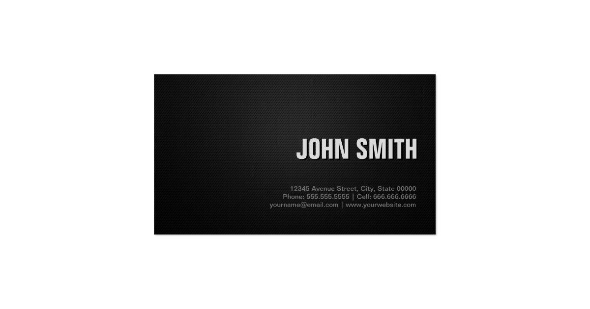 Bodyguard professional black silver business card zazzle for Bodyguard business cards