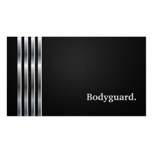 Bodyguard Professional Black Silver Business Card Template