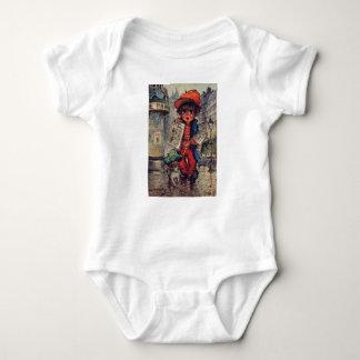 Bodystocking baby urchin with the newspaper baby bodysuit