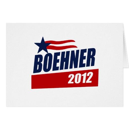 BOEHNER 2012 CAMPAIGN BANNER GREETING CARD
