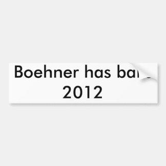 Boehner has balls 2012 bumper sticker
