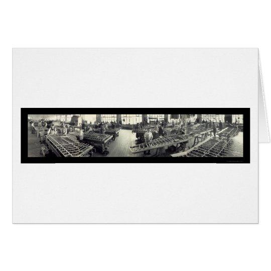 Boeing Airplane Worker Photo 1941 Card