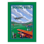 Boeing Field Vintage Travel Poster