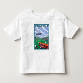 Boeing Field Vintage Travel Poster Shirt