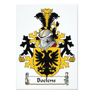 Boelens Family Crest 4.5x6.25 Paper Invitation Card