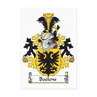 Boelens Family Crest Canvas Print