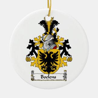 Boelens Family Crest Double-Sided Ceramic Round Christmas Ornament