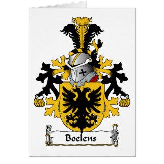 Boelens Family Crest Greeting Card