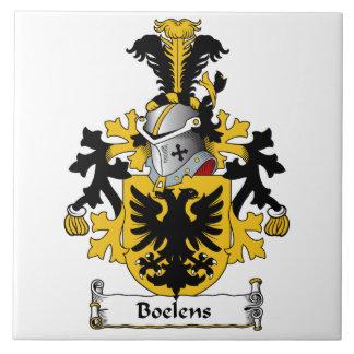 Boelens Family Crest Large Square Tile