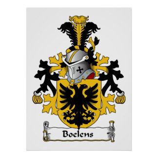 Boelens Family Crest Poster