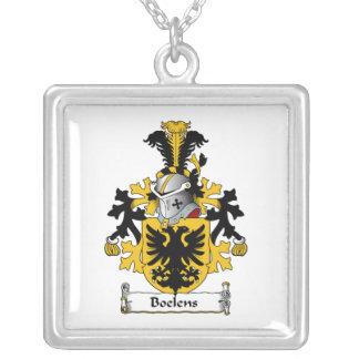 Boelens Family Crest Square Pendant Necklace