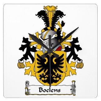 Boelens Family Crest Square Wall Clocks