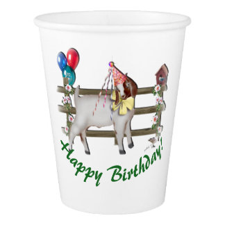 Boer Goat Birthday Party Paper Cup
