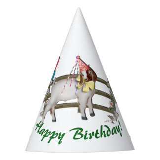 Boer Goat Birthday Party Party Hat