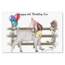 Boer Goat Birthday Party Tissue Paper