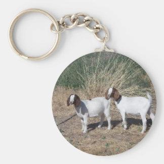 Boer Goat Kids Keychain