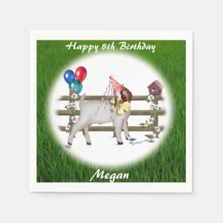 Boer Goat Personalized  Birthday Party Napkins