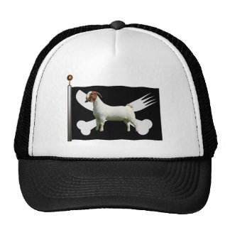 BOER GOAT PIRATE FLAG - KNIFE AND FORK MESH HATS