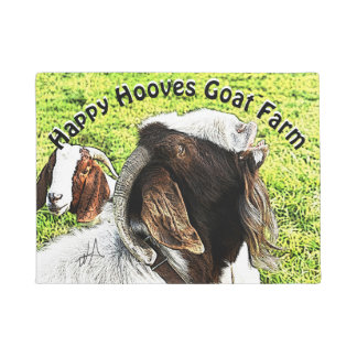 Boer Goats He is Doing His Thing! YOUR TEXT Doormat