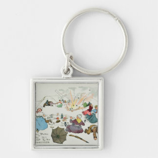 Boer picnic on Middle Hill disturbed Keychain