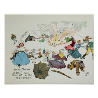 Boer picnic on Middle Hill disturbed Poster