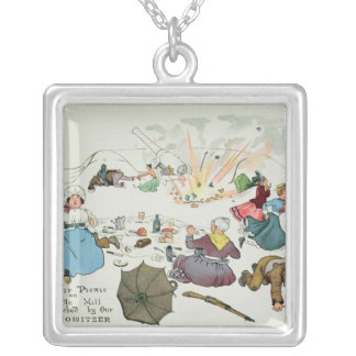 Boer picnic on Middle Hill disturbed Silver Plated Necklace
