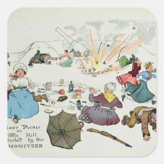 Boer picnic on Middle Hill disturbed Square Sticker