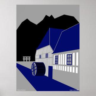 Boerkop Water Mill - Børkop Vandmølle Poster