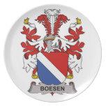 Boesen Family Crest Plates