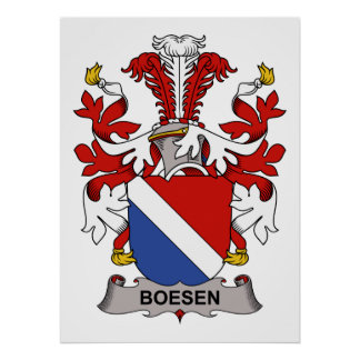 Boesen Family Crest Posters