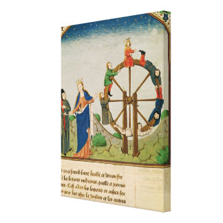 Boethius with the Wheel of Fortune Stretched Canvas Prints
