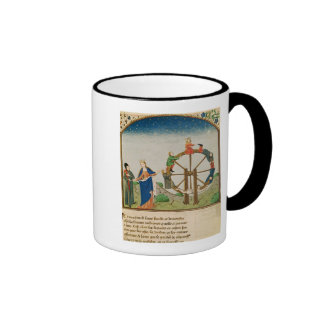 Boethius with the Wheel of Fortune Ringer Coffee Mug