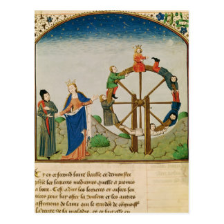 Boethius with the Wheel of Fortune Postcard