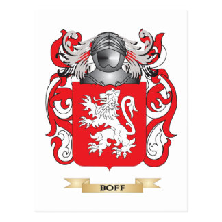 Boff Coat of Arms (Family Crest) Postcard