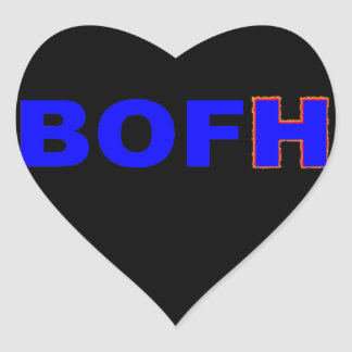 BOFH hybrid operator From bright Heart Sticker