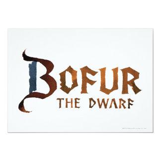 Bofur Name Custom Invitations