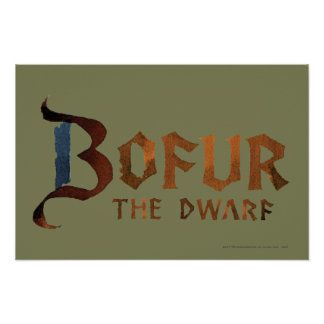 Bofur Name Poster