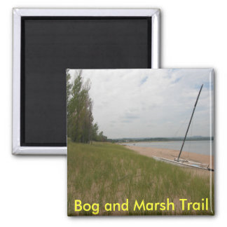 Bog and Marsh Trail 2 Inch Square Magnet