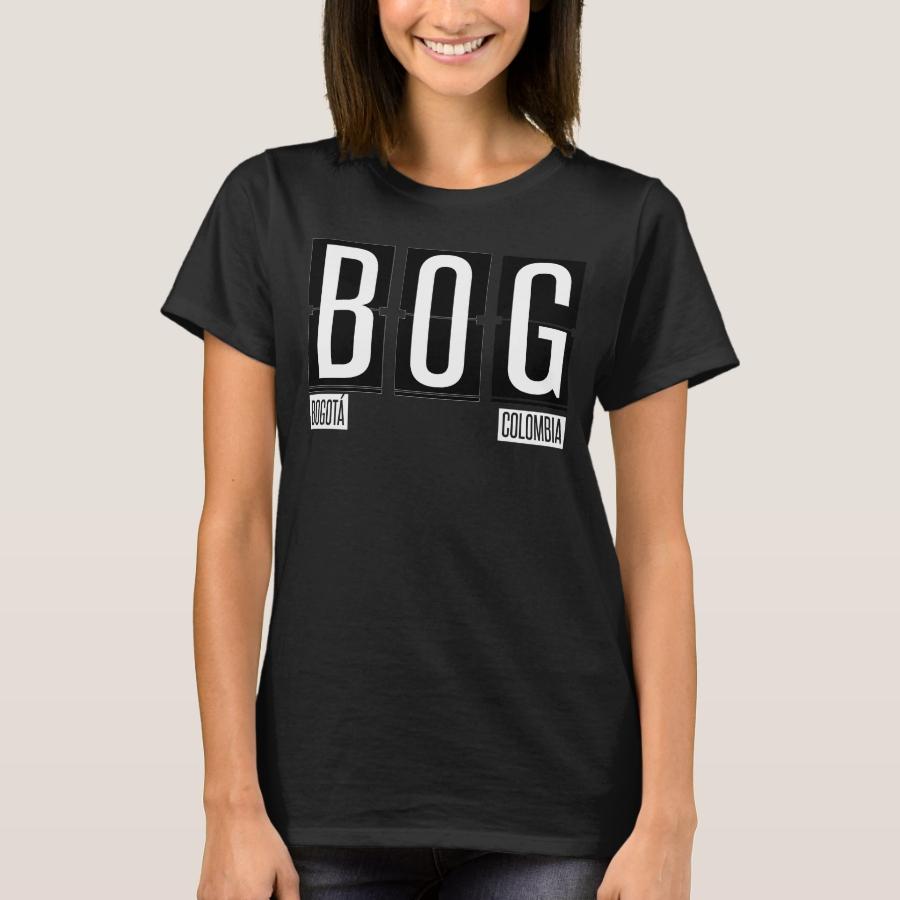 BOG  Bogota Columbia- Airport Code T-Shirt - Best Selling Long-Sleeve Street Fashion Shirt Designs