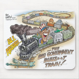 Bog Gov BullSh*t Train Mousepad
