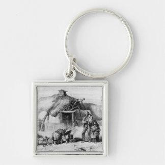 Bog-Trotters Cabin Keychain