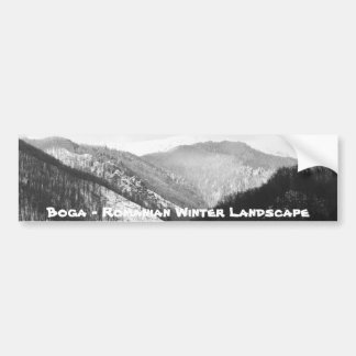 Boga - Romanian Winter Landscape Bumper Sticker